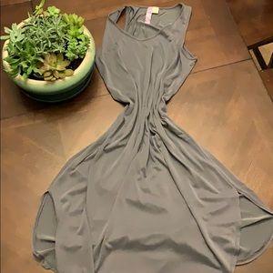 Francescas collection xs silky grey slit dress